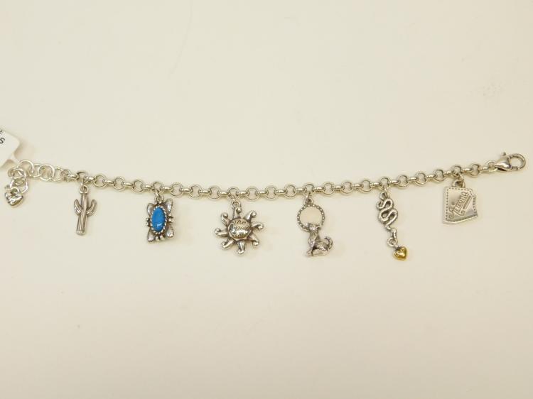New Brighton Arizona State Costume Jewelry Charm Bracelet