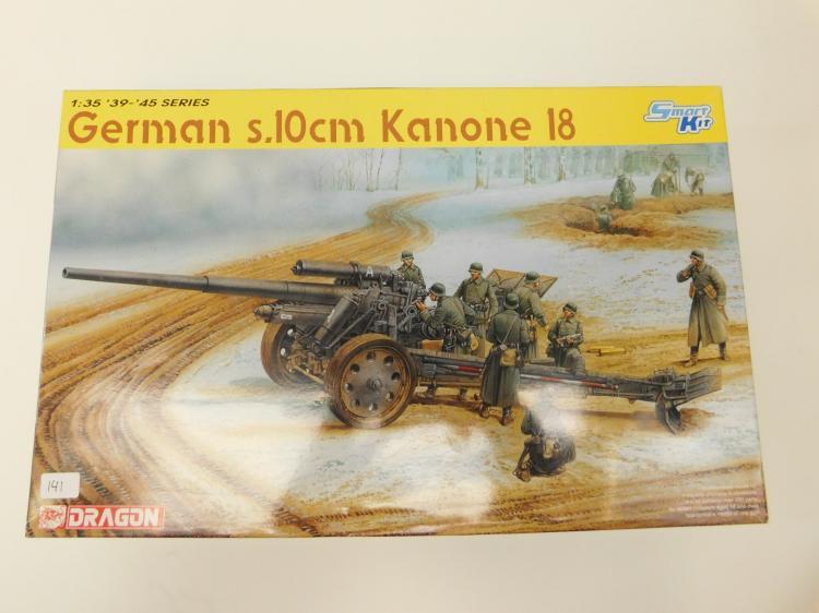 2010 Dragon Smart Kit 1/35 Scale 39 - 45 Series German S10Cm Kanone 18 Gun Model Kit