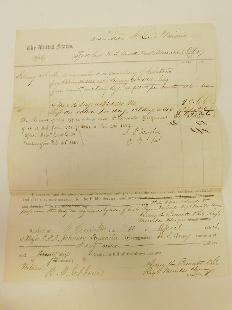 1864 Saint Louis Civil War Document
