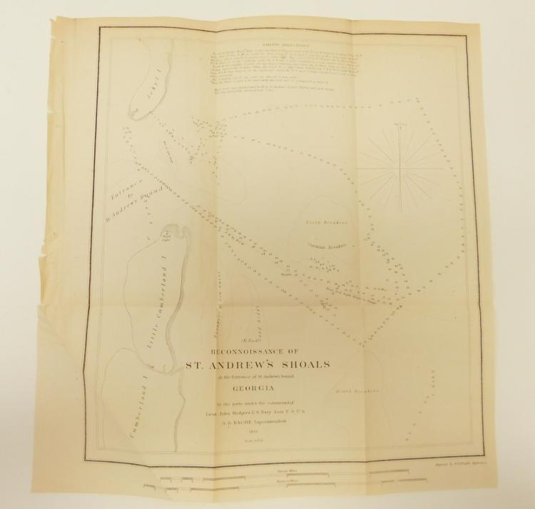Original 1850 Map Of Georgia