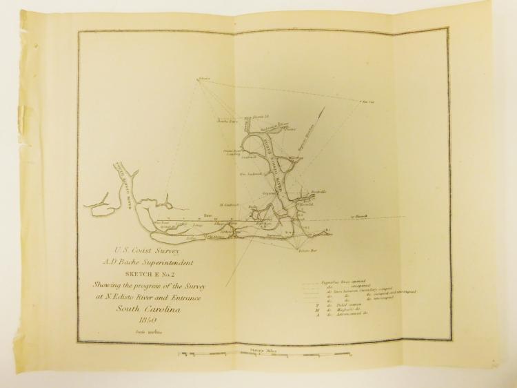 Original 1850 South Carolina Map
