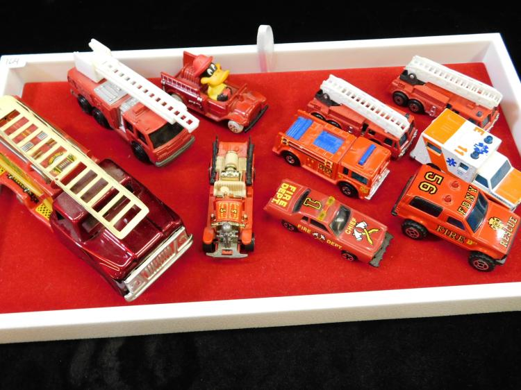 Vintage Diecast Fire Trucks And Emergency Vehicle Toy Lot