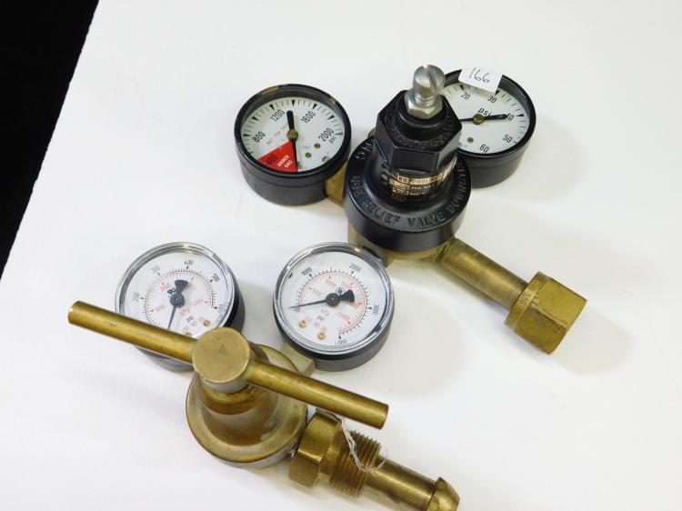 Lot Of 2 Western Enterprises And Norgren Compressed Gas Regulators