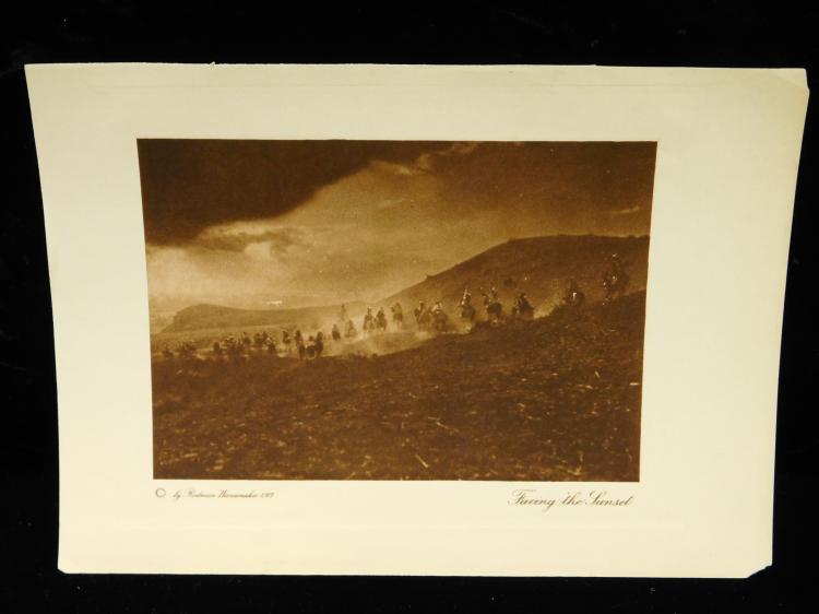 Rodman Wanamaker Indian Illustrations Circa 1913 Facing The Sunset