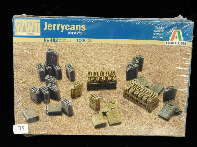 2005 Italeri Ww2 1/35 Scale Number 402 Jerry Cans Factory Sealed Model Kit