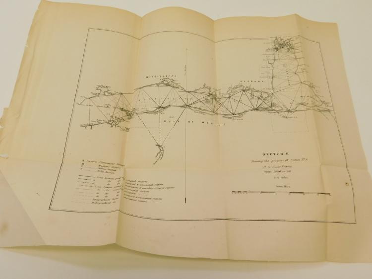 1850 11X15 Gulf Of Mexico Mississippi Alabama Us Coast Survey Map