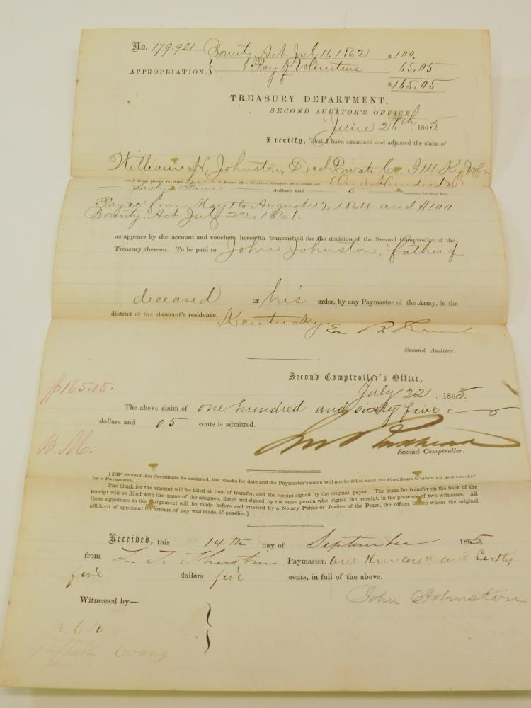 1868 14Th Kentucky Civil War Document