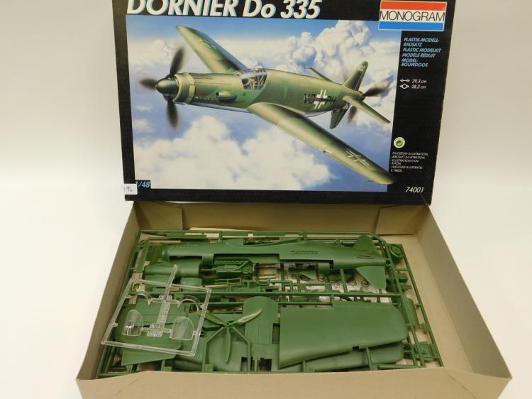 1991 Monogram Revel Dornier Do 335 1/48 Scale Model Airplane Kit