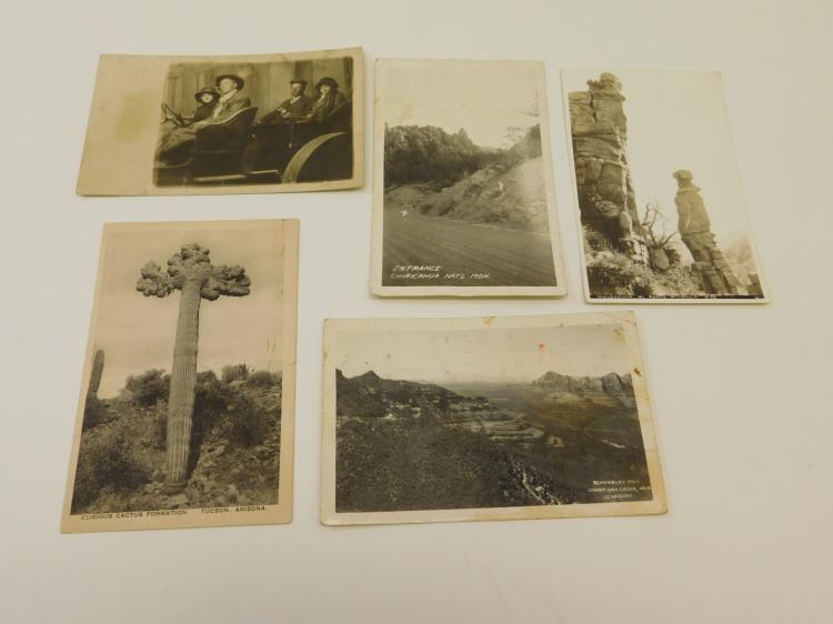 Lot Of 5 Antique Arizona Black And White Photograph Postcards