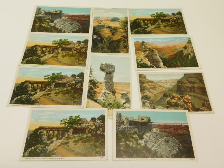 Vintage Lot Of Fred Harvey And Others Colored Arizona Postcards