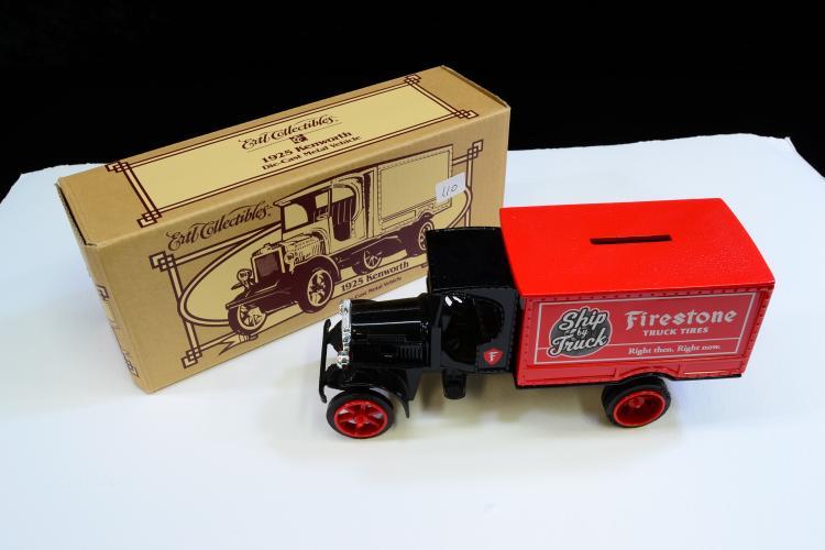 Lot 110: Ertl 1925 Kenworth Firestone Truck Tires Diecast Model Bank In Box
