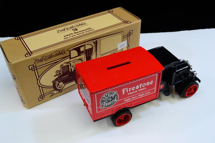 Ertl 1925 Kenworth Firestone Truck Tires Diecast Model Bank In Box