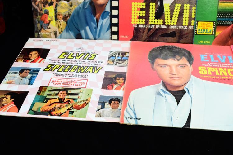 Lot 116: Lot Of 7 Vintage Elvis Record Album Lps