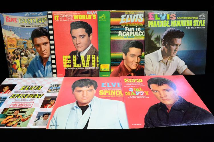 Lot Of 7 Vintage Elvis Record Album Lps