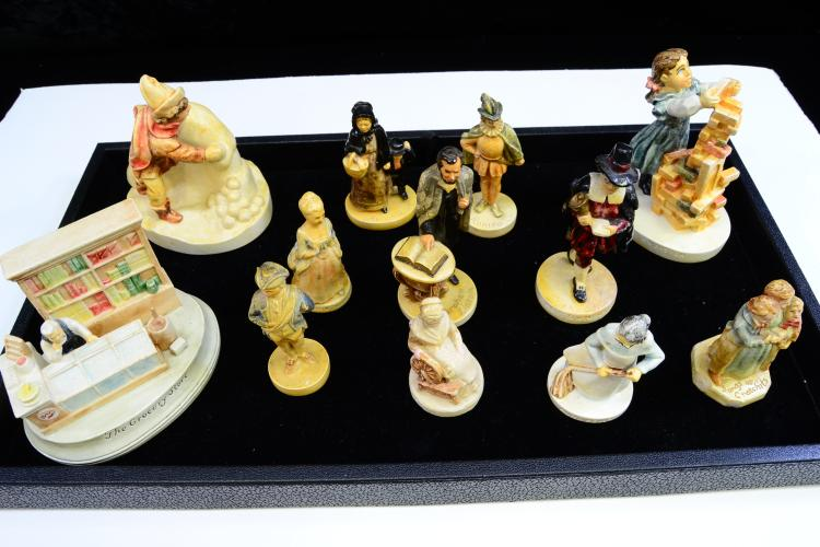 Lot Of 12 Sebastian Miniatures Figurines Including Lincoln And Grocery Store