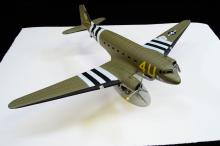 Lot 128: 1995 Ertl Limited Edition Dc-3 Diecast Model Military Plane