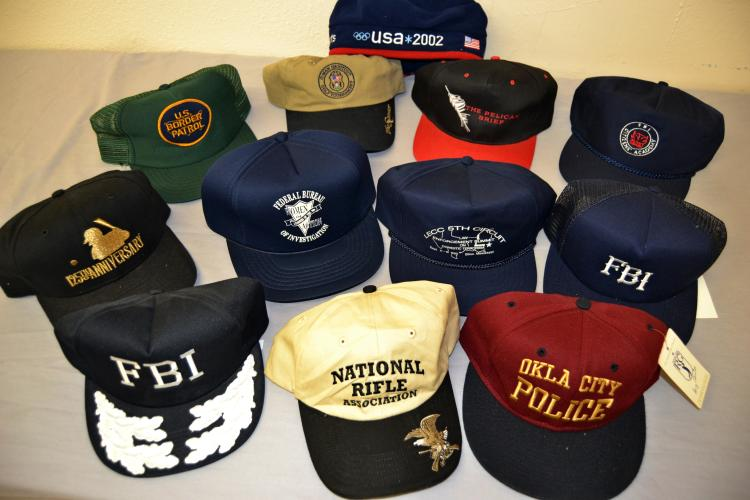 Lot Of 11 Fbi Police Trucker And Baseball Hats