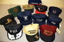 Lot 130: Lot Of 11 Fbi Police Trucker And Baseball Hats