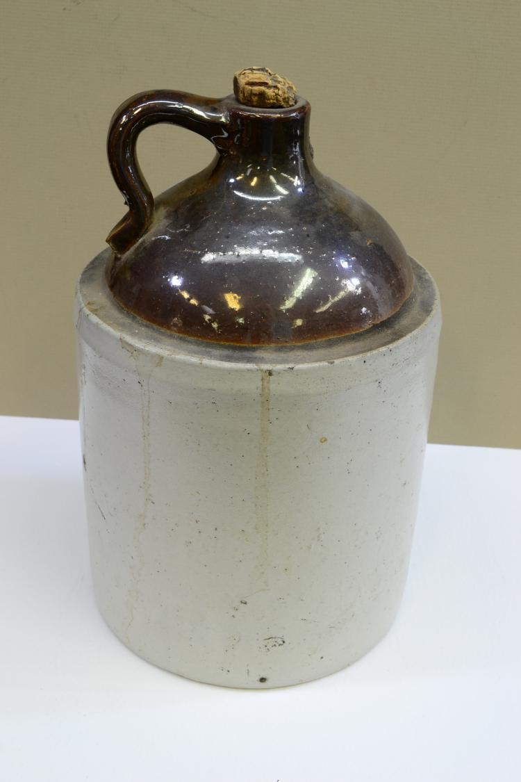 Vintage Stoneware Moonshine Shoulder Jug