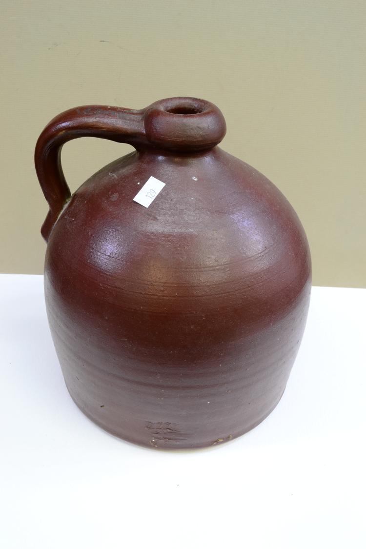 Lot 141: Vintage Brown Beehive Stoneware Jug