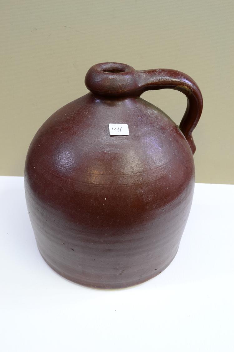 Vintage Brown Beehive Stoneware Jug
