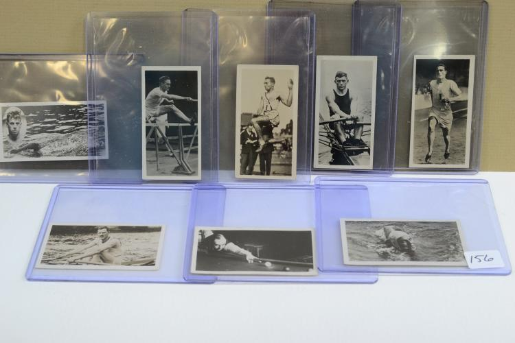 Lot Of 8 1930S Major Drapkin & Co Sporting Celebrities In Action Tobacco Cards