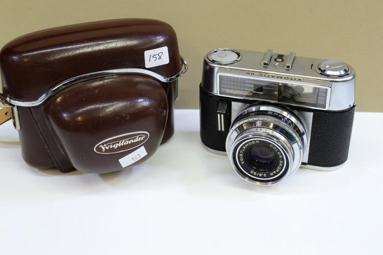 Vintage Voigtlander Vitomatic Iib Film Camera With Case