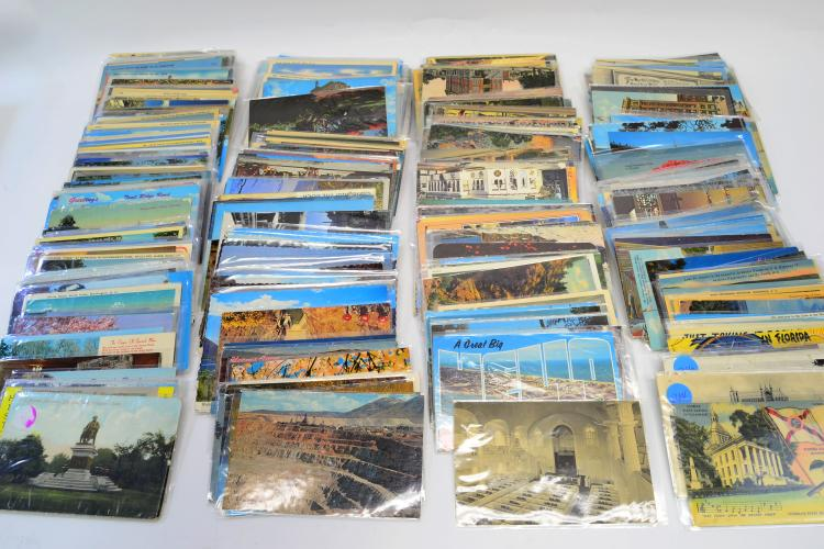 Large Lot Of Vintage Travel Postcards