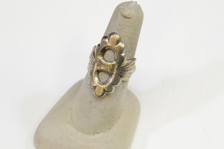 7.7 Gram Navajo Sand-Cast Sterling Silver Ring Size 7.25