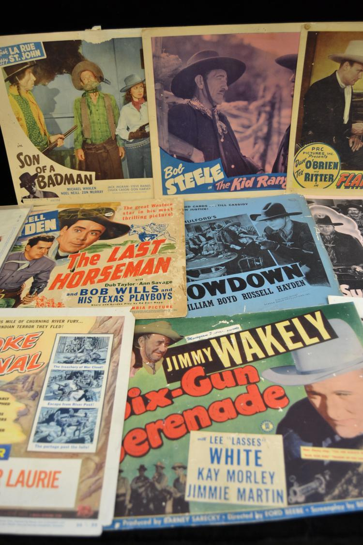 Lot 173: Lot Of 15 Vintage Western Movie Lobby Cards
