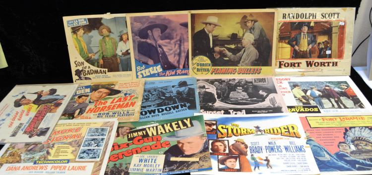Lot Of 15 Vintage Western Movie Lobby Cards
