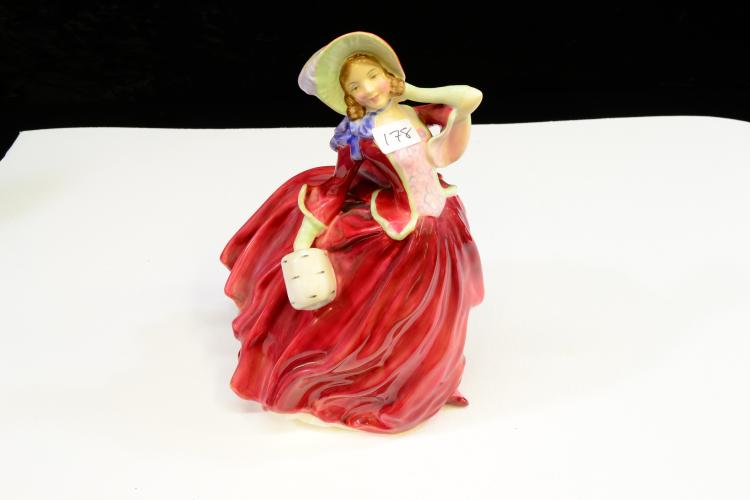 Vintage Autumn Breezes Royal Doulton Porcelain Figurine