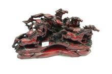 Lot 181: Chinese Carved Resin Horse Sculpture