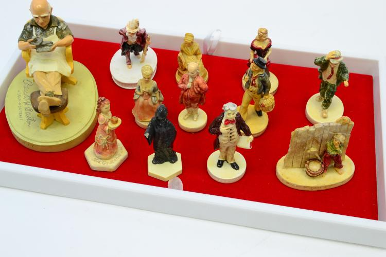 Lot Of 12 Vintage Sebastian Miniatures Figurines Including Collectors Society