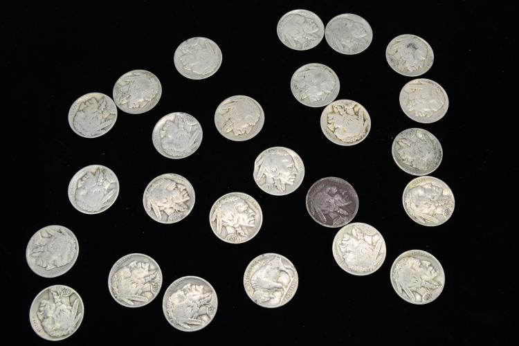 Mixed Date Lot Of Buffalo Nickels