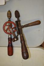Lot 18: 2 Antique Hand Crank Drills Millers Falls And Mohawk