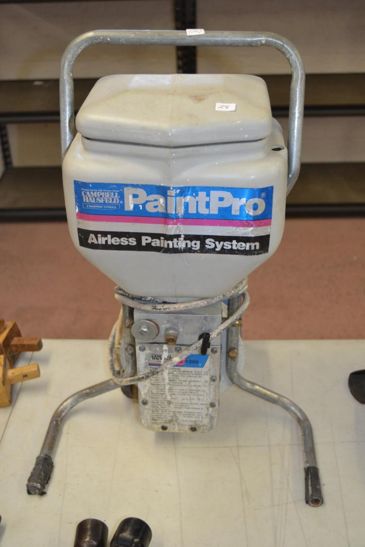 Campbell Hausfeld Paintpro Airless Paint System Sprayer