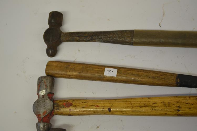 Lot 31: Lot Of 4 Vintage And Antique Ball-Peen Hammers Including Williams Blue Point Bonney