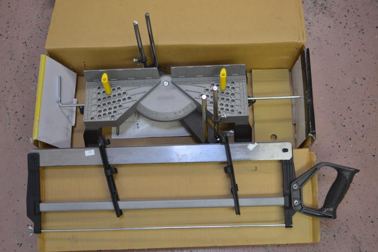 Stanley Contractor Grade Clamping Miter Box With Saw In Original Box