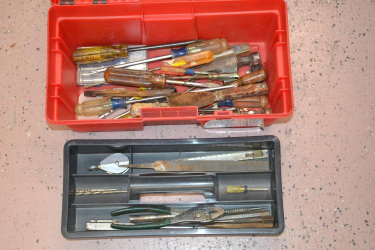 Keter 16 Inch Tool Box With Screwdrivers Punches Pliers & File