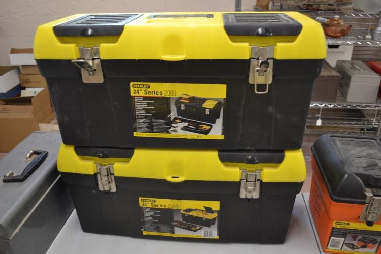Lot Of To Stanley 24 Inch Series 2000 Tool Boxes