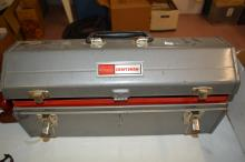Lot 66: Craftsman 20 Inch Tool Box With Half-Inch Drive Breaker Bars Sockets Wrenches Sockets And More