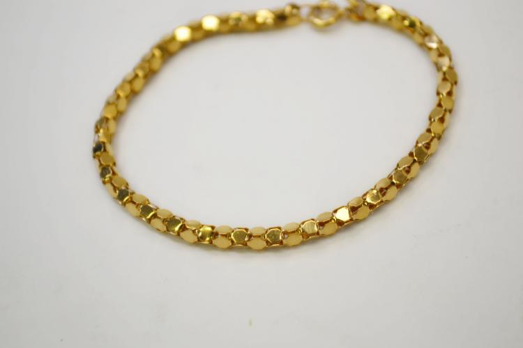 Modern Gold Tone Sterling Fashion Bracelet