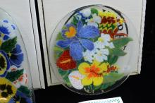 Lot 86: Lot Of 3 Peggy Karr Glass Dishes In Original Boxes