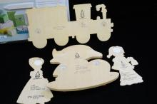 Lot 97: Martha Stewart Scoring Board And Vintage Alfred Mertens Dwarf Wood Wall Hangings