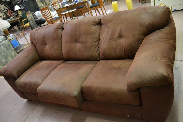 brown microsuede sofa rh auctionzip com Grey Microsuede Sofa Gray Microsuede Sectional