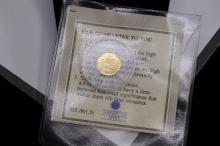 .5 Gram 14 Karat Gold History of Christianity American Mint Miniature Coin