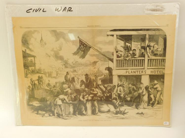 Civil War Propaganda Harpers Weekly A Rebel Guerrilla Raid In A Western Town Page