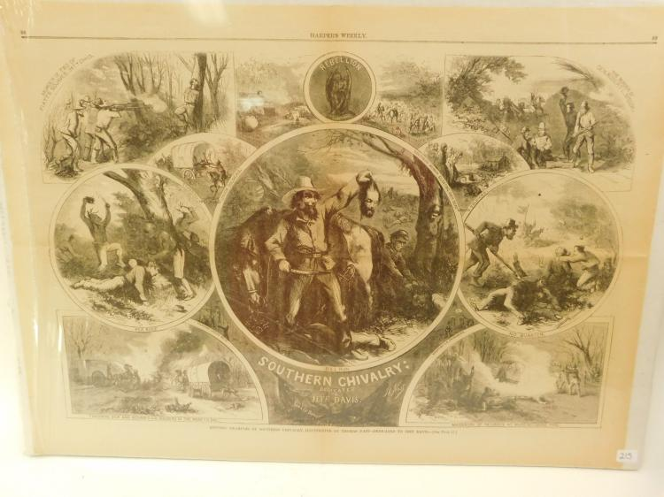 Civil War Propaganda Southern Chivalry Beheading Harpers Weekly Page