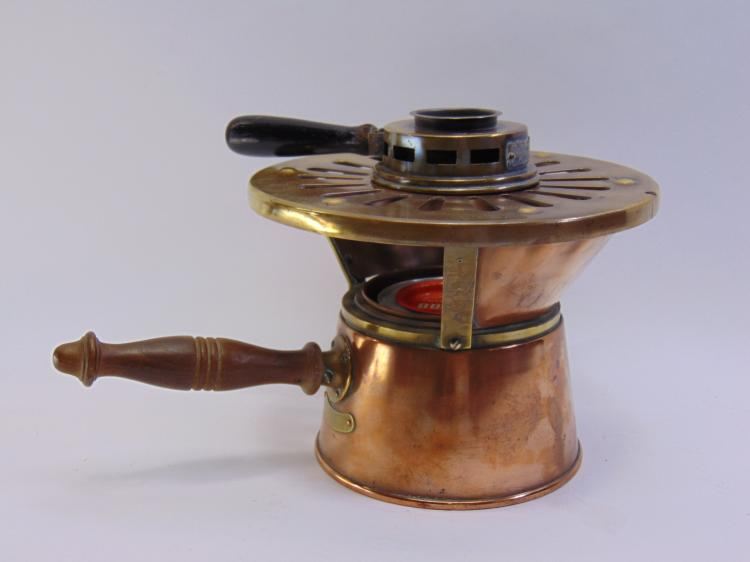 Lot 19: Vintage Sterno Inc Copper & Brass Heating Stove